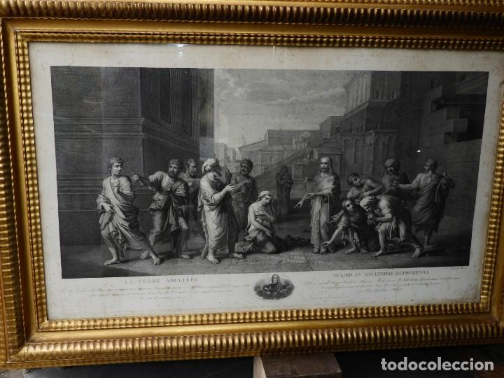 Arte: GRABADO CON FANTASTICO MARCO DE MADERA DORADA DE LA EPOCA S. XIX - Foto 2 - 188716942