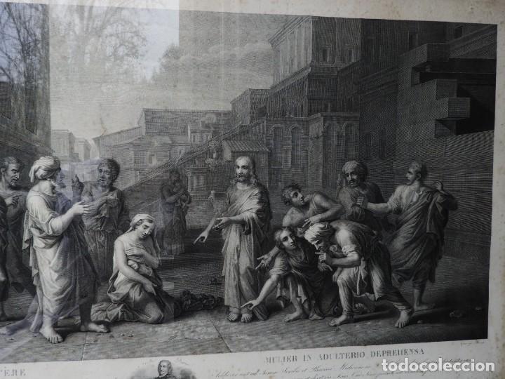 Arte: GRABADO CON FANTASTICO MARCO DE MADERA DORADA DE LA EPOCA S. XIX - Foto 4 - 188716942
