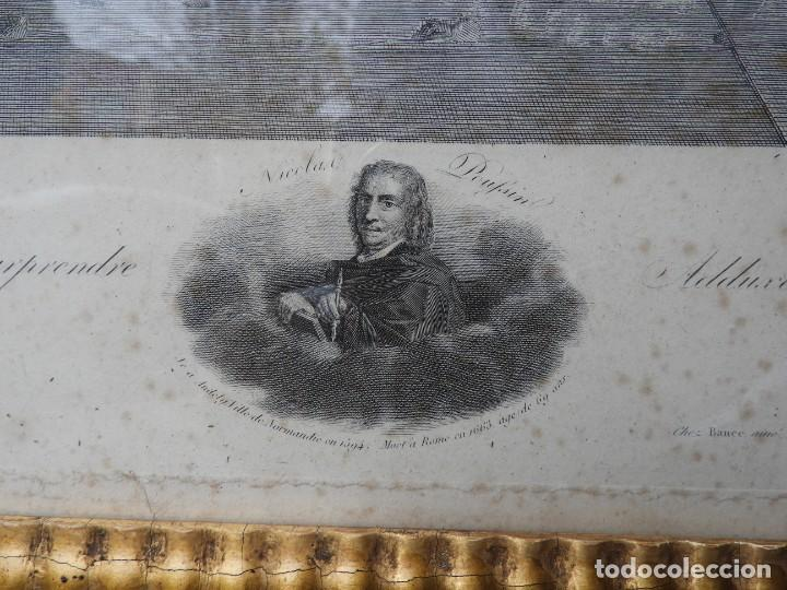 Arte: GRABADO CON FANTASTICO MARCO DE MADERA DORADA DE LA EPOCA S. XIX - Foto 6 - 188716942