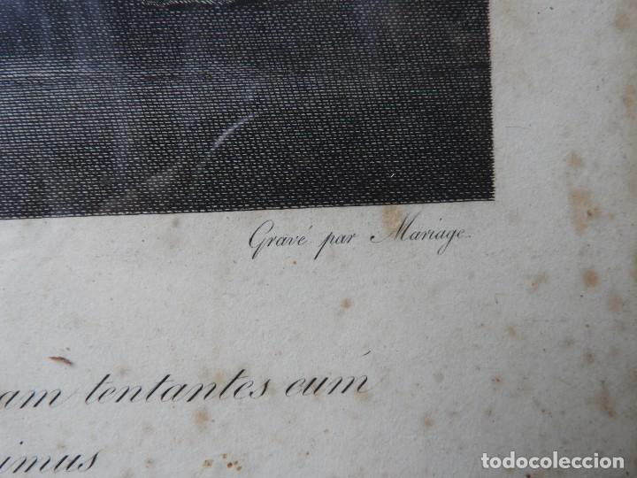 Arte: GRABADO CON FANTASTICO MARCO DE MADERA DORADA DE LA EPOCA S. XIX - Foto 8 - 188716942