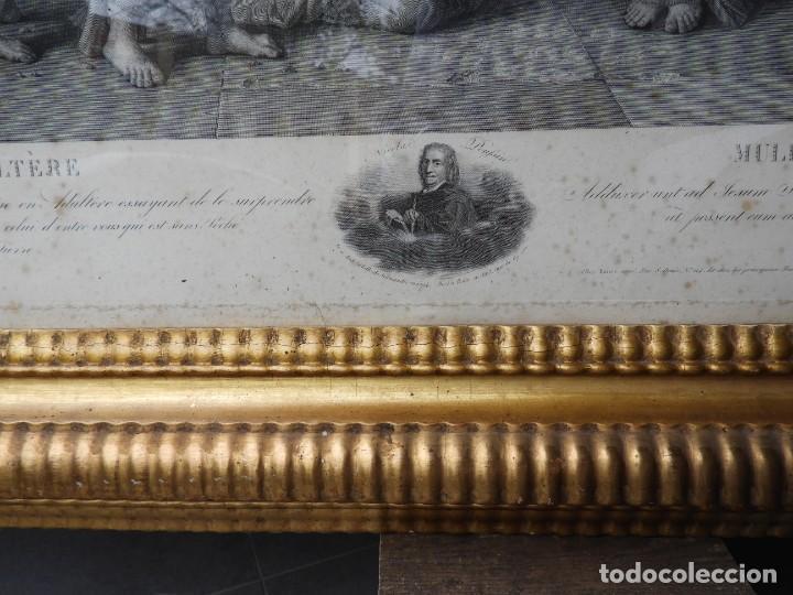 Arte: GRABADO CON FANTASTICO MARCO DE MADERA DORADA DE LA EPOCA S. XIX - Foto 14 - 188716942