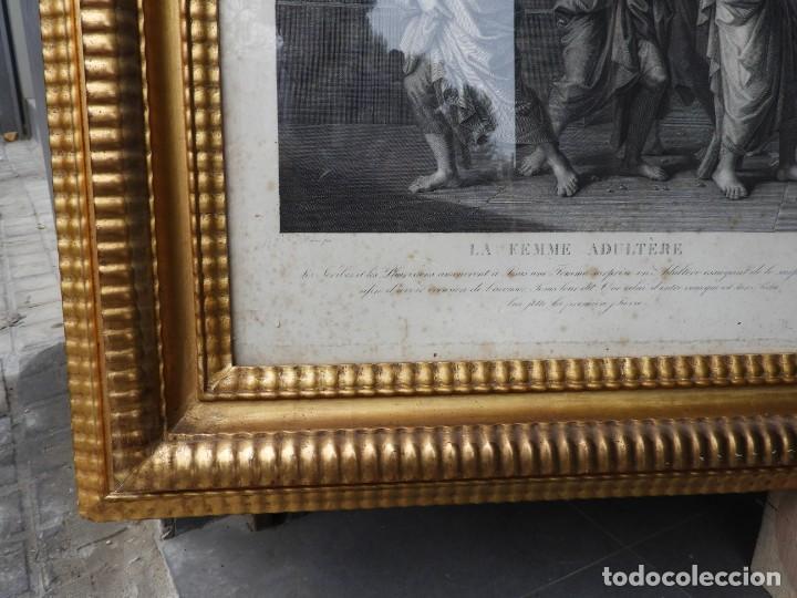 Arte: GRABADO CON FANTASTICO MARCO DE MADERA DORADA DE LA EPOCA S. XIX - Foto 15 - 188716942