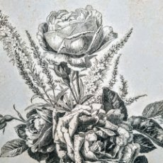 Arte: PRECIOSO GRABADO MODERNISTA CIRCA 1900 ANTIQUE UNIQUE. Lote 188746101