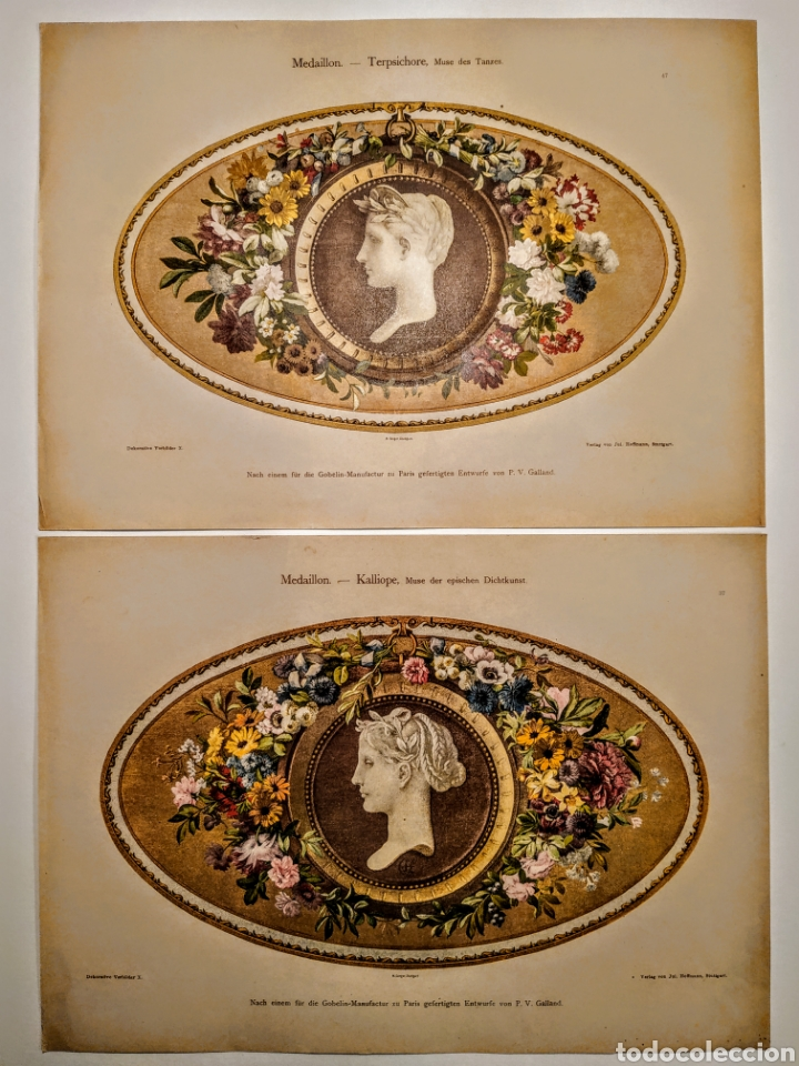 Arte: Precioso Grabado Modernista circa 1900 ANTIQUE UNIQUE - Foto 3 - 188746310
