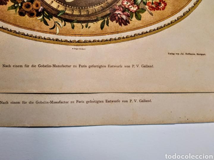 Arte: Precioso Grabado Modernista circa 1900 ANTIQUE UNIQUE - Foto 5 - 188746310