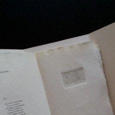 Arte: HANS ERNI, DEL LIBRO DE ARTISTA POEMAS DE AMOR, 10 AGUAFUERTES Y 18 POESÍAS, 1969. Lote 188750721