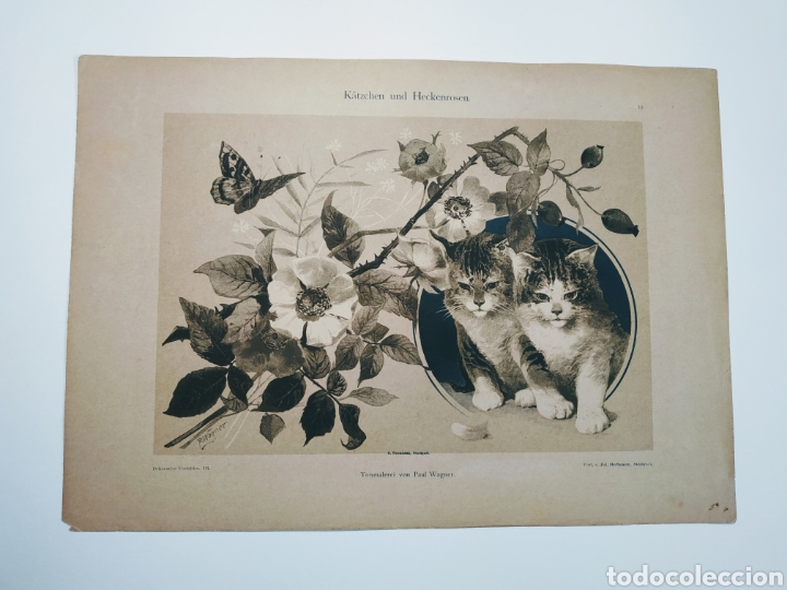 Arte: Precioso Grabado Modernista circa 1900 ANTIQUE UNIQUE - Foto 2 - 188752057