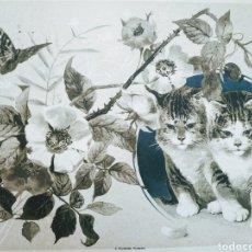 Arte: PRECIOSO GRABADO MODERNISTA CIRCA 1900 ANTIQUE UNIQUE. Lote 188752057