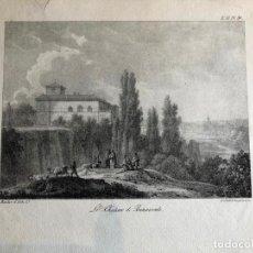 Arte: GRABADO ORIGINAL ANTIGUO. EL CASTILLO DE BENAVENTE. ENGELMANN. Lote 189145415