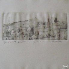 Arte: JOSEP SERRA LLIMONA. GRABADO TORRE COLSERROLA, OBSERVATORIO FABRA Y TIBIDABO. FIRMADO A MANO.. Lote 179070502