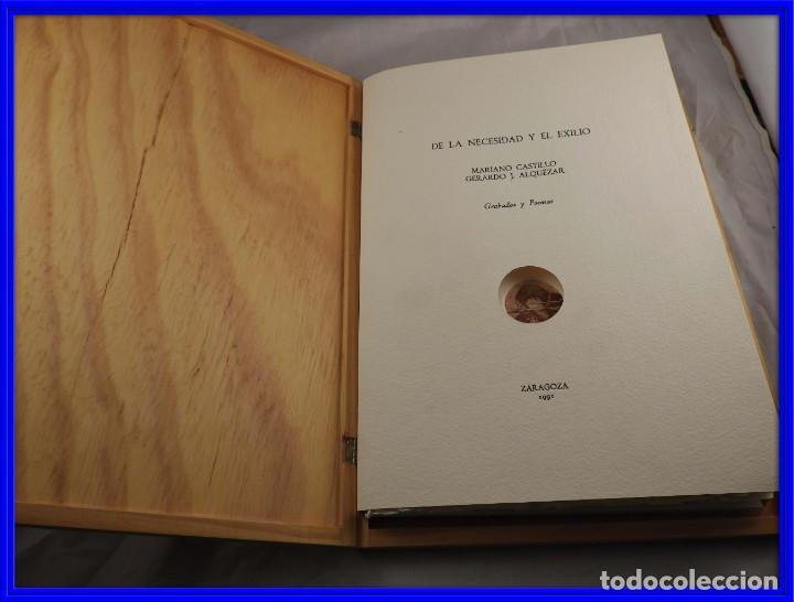 CARPETA GRABADOS Y POEMAS DE LA NECESIDAD Y EL EXILIO 1991 MARIANO CASTILLO (Arte - Grabados - Contemporáneos siglo XX)