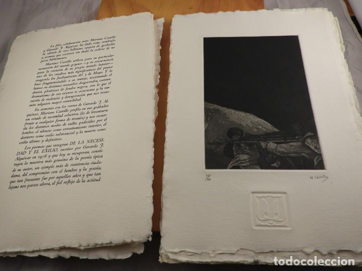 Arte: CARPETA GRABADOS Y POEMAS DE LA NECESIDAD Y EL EXILIO 1991 MARIANO CASTILLO - Foto 2 - 189483415