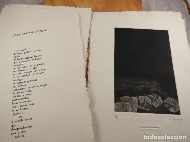 Arte: CARPETA GRABADOS Y POEMAS DE LA NECESIDAD Y EL EXILIO 1991 MARIANO CASTILLO - Foto 4 - 189483415