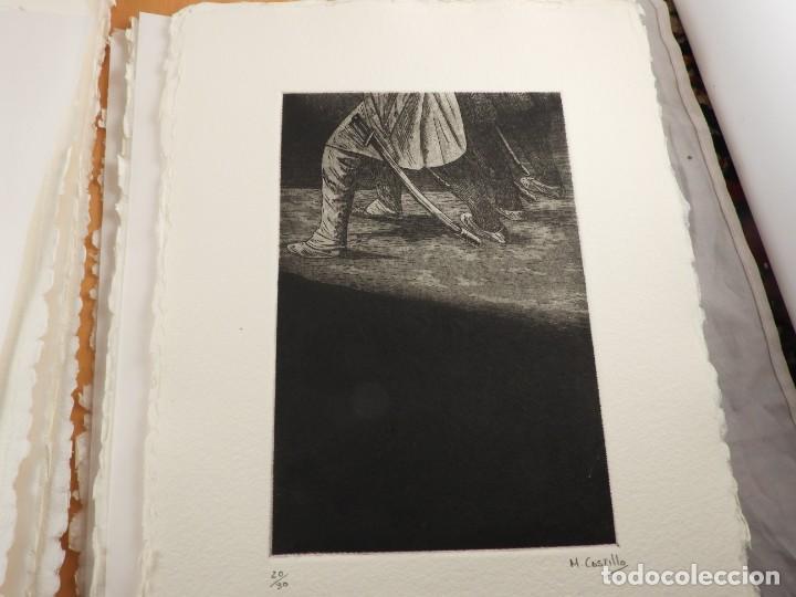 Arte: CARPETA GRABADOS Y POEMAS DE LA NECESIDAD Y EL EXILIO 1991 MARIANO CASTILLO - Foto 5 - 189483415
