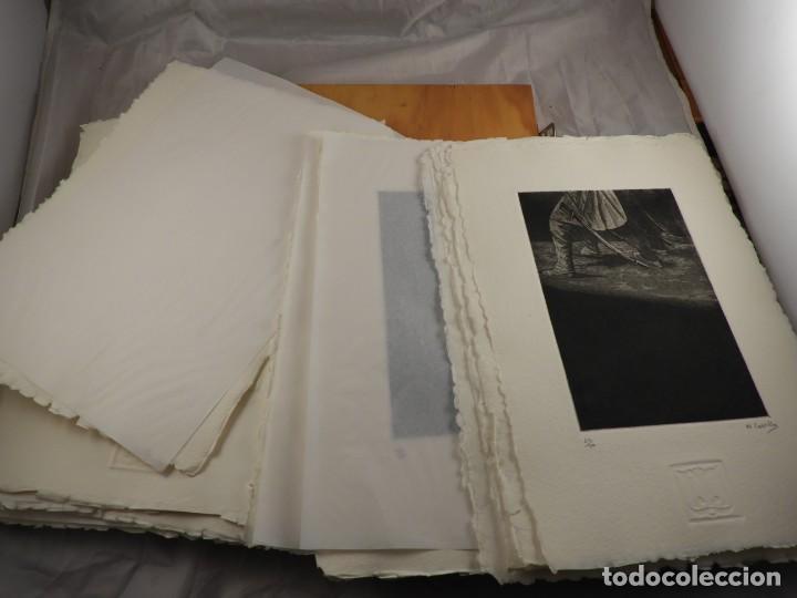 Arte: CARPETA GRABADOS Y POEMAS DE LA NECESIDAD Y EL EXILIO 1991 MARIANO CASTILLO - Foto 6 - 189483415