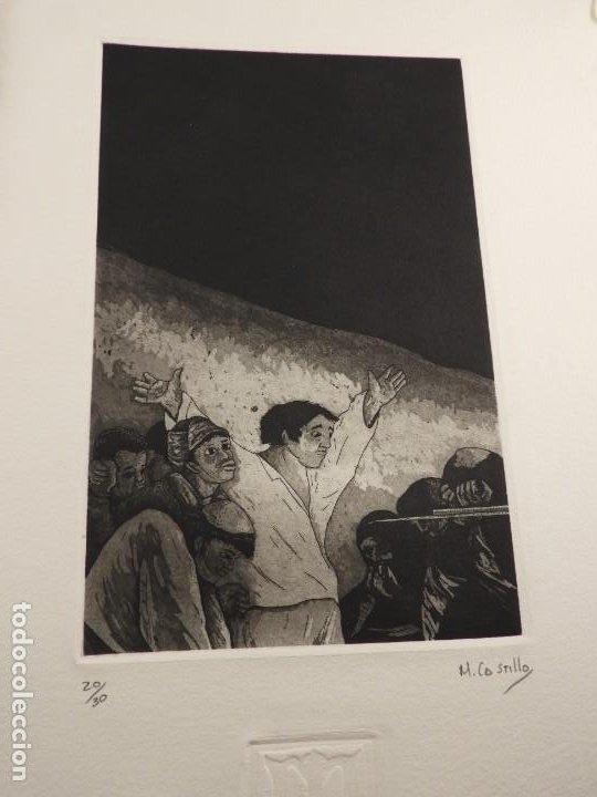 Arte: CARPETA GRABADOS Y POEMAS DE LA NECESIDAD Y EL EXILIO 1991 MARIANO CASTILLO - Foto 7 - 189483415