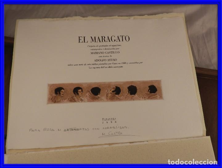 CARPETA DE GRABADOS AL AGUATINTA EL MARAGATO POR MARIANO CASTILLO (Arte - Grabados - Contemporáneos siglo XX)