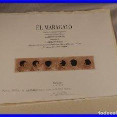 Arte: CARPETA DE GRABADOS AL AGUATINTA EL MARAGATO POR MARIANO CASTILLO. Lote 189483465
