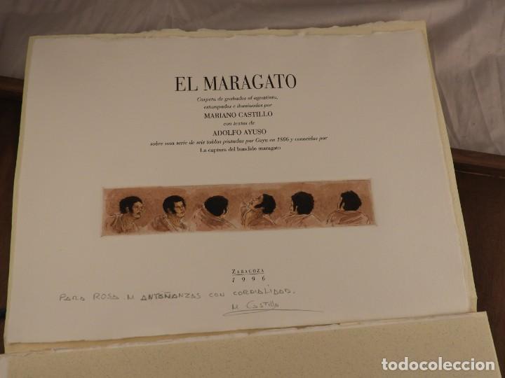 Arte: CARPETA DE GRABADOS AL AGUATINTA EL MARAGATO POR MARIANO CASTILLO - Foto 11 - 189483465