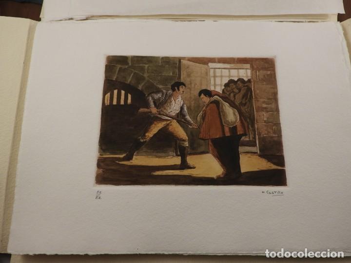 Arte: CARPETA DE GRABADOS AL AGUATINTA EL MARAGATO POR MARIANO CASTILLO - Foto 2 - 189483465