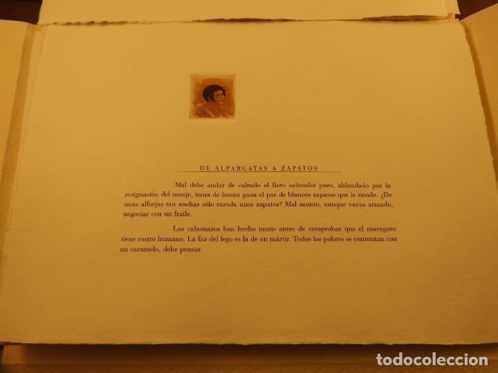 Arte: CARPETA DE GRABADOS AL AGUATINTA EL MARAGATO POR MARIANO CASTILLO - Foto 3 - 189483465