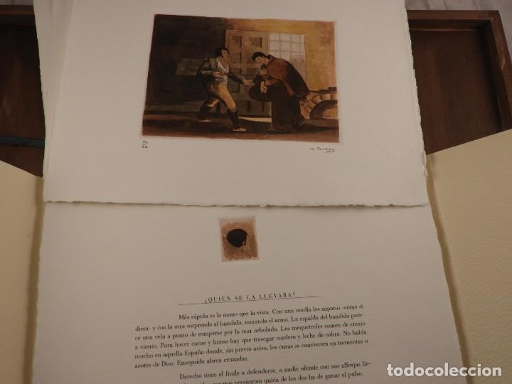 Arte: CARPETA DE GRABADOS AL AGUATINTA EL MARAGATO POR MARIANO CASTILLO - Foto 4 - 189483465
