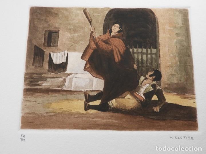 Arte: CARPETA DE GRABADOS AL AGUATINTA EL MARAGATO POR MARIANO CASTILLO - Foto 6 - 189483465