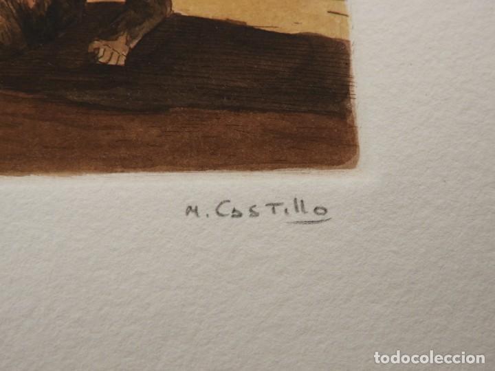 Arte: CARPETA DE GRABADOS AL AGUATINTA EL MARAGATO POR MARIANO CASTILLO - Foto 8 - 189483465