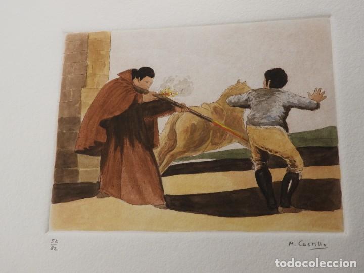 Arte: CARPETA DE GRABADOS AL AGUATINTA EL MARAGATO POR MARIANO CASTILLO - Foto 9 - 189483465