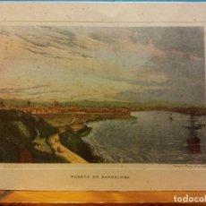 Arte: TARJETA PUERTO DE BARCELONA. ANTONIO ROCA. DÍPTICO. SIN USAR. COMPLETAMENTE NUEVA. Lote 189539745