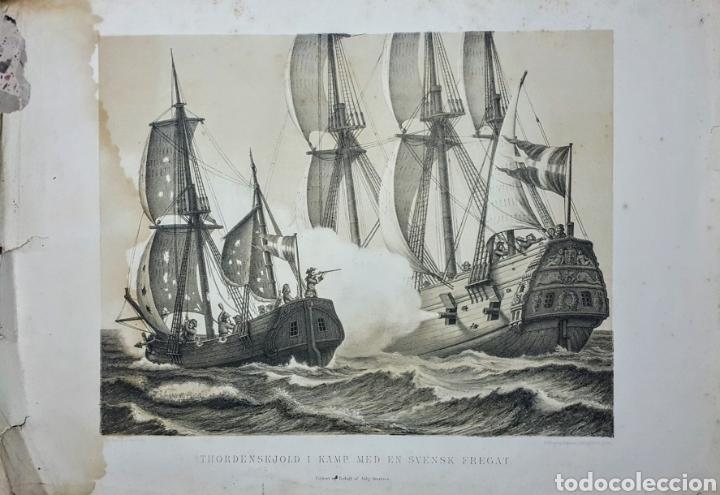 GRABADO ANTIGUO N18 INGLÉS DE 52 X 36 CM. (Arte - Grabados - Antiguos hasta el siglo XVIII)