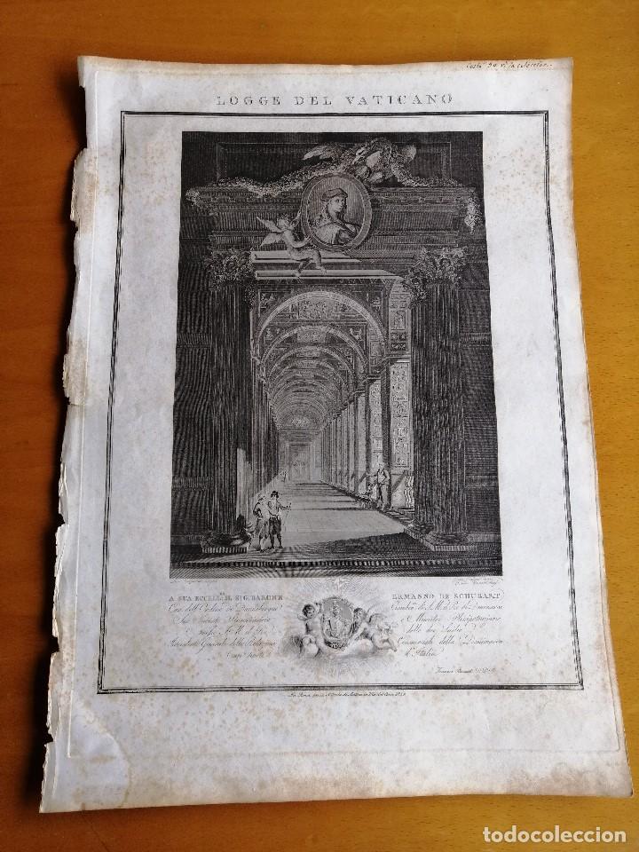 LOGGE DEL VATICANO, PORTADA DEL LIBRO EDITADO POR FRANCESCO RAINALDI CA 1802 . GIOVANNI BALZAR (Arte - Grabados - Modernos siglo XIX)