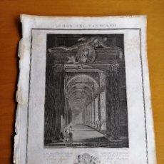 Arte: LOGGE DEL VATICANO, PORTADA DEL LIBRO EDITADO POR FRANCESCO RAINALDI CA 1802 . GIOVANNI BALZAR. Lote 189613117