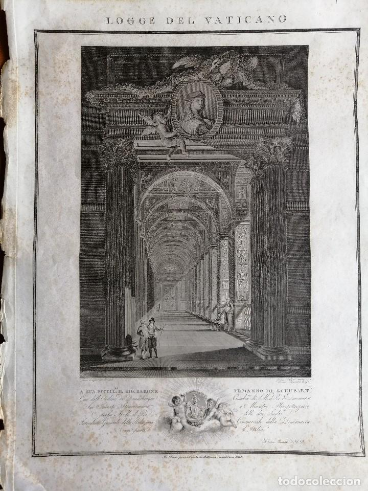 Arte: Logge del Vaticano, portada del libro editado por Francesco Rainaldi Ca 1802 . Giovanni Balzar - Foto 2 - 189613117