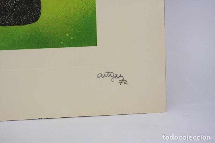 Arte: Francesc Artigau, grabado, pies y nubes, 1972, tiraje 1 / 250, firmado. 68x47,5cm - Foto 3 - 189620841