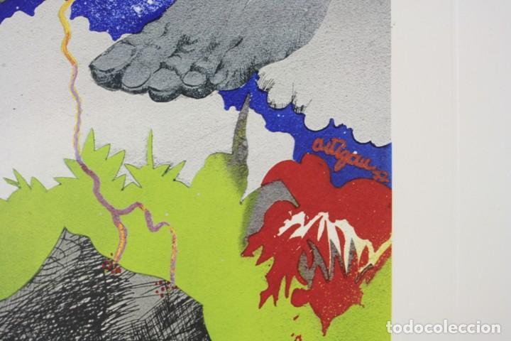 Arte: Francesc Artigau, grabado, pies y nubes, 1972, tiraje 1 / 250, firmado. 68x47,5cm - Foto 5 - 189620841