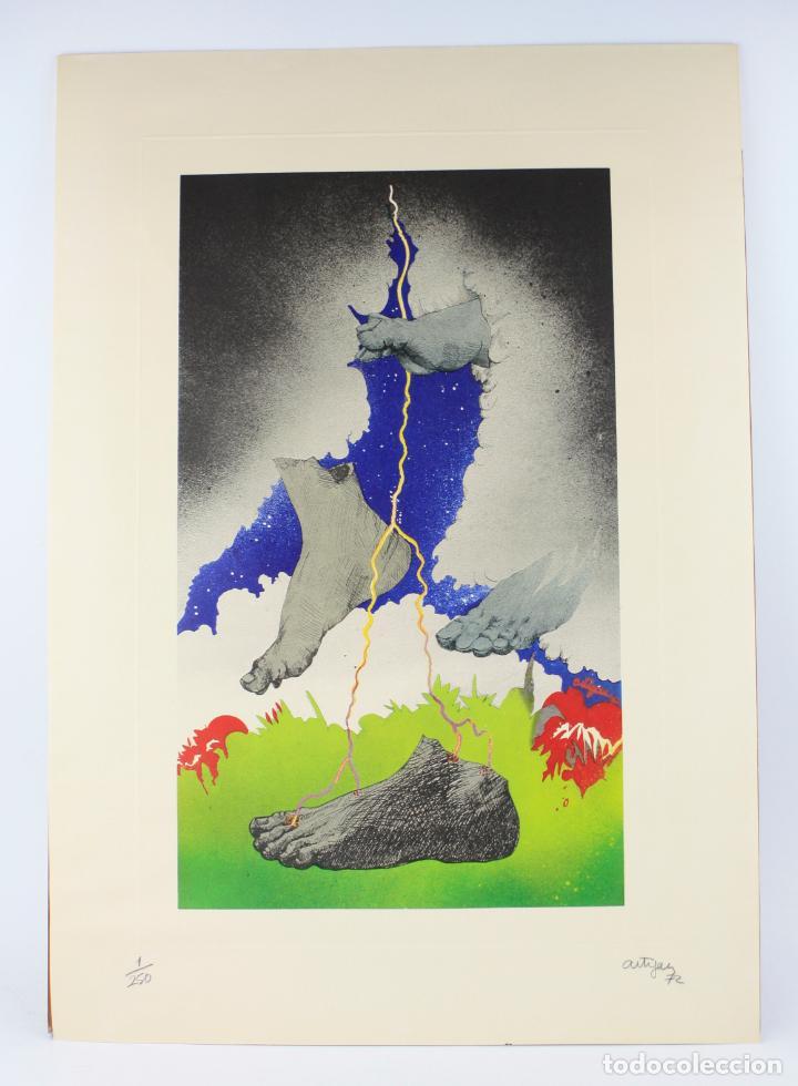FRANCESC ARTIGAU, GRABADO, PIES Y NUBES, 1972, TIRAJE 1 / 250, FIRMADO. 68X47,5CM (Arte - Grabados - Contemporáneos siglo XX)