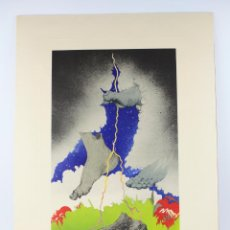 Arte: FRANCESC ARTIGAU, GRABADO, PIES Y NUBES, 1972, TIRAJE 1 / 250, FIRMADO. 68X47,5CM. Lote 189620841