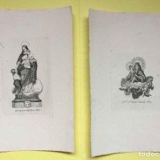 Arte: 2 GRABADOS: NUESTRA SEÑORA DE LAS ESCUELAS PÍAS (S. XIX) ¡ORIGINALES! ¡COLECCIONISTA!. Lote 189634158