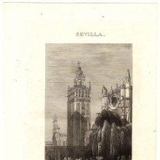 Arte: GRABADO CALCOGRAFICO LA GIRALDA. SEVILLA. P. ALABERN. SIGLO XIX. Lote 189826103