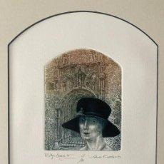 Arte: VALENTIN KOVATCHEV AGUAFUERTE FIRMADO Y TITULADO MALAGA ETERNA III DEL AÑO 1994. Lote 50573193