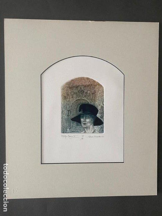 Arte: VALENTIN KOVATCHEV AGUAFUERTE FIRMADO Y TITULADO MALAGA ETERNA III DEL AÑO 1994 - Foto 2 - 50573193