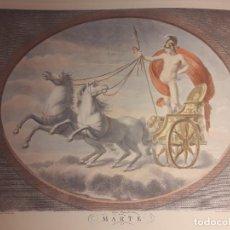Arte: IMPRESIONANTE GRABADO DIOS MARTE DE STEFANO TOFANELLI- MITOLOGÍA CLASICA. Lote 189972060