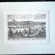 Arte: GRABADO BARCELONA - VISTAS CIUDAD S.XVIII - PIERRE AVELINE. Lote 189973660
