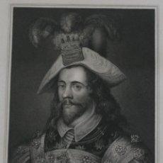 Arte: 1835 RETRATO GRABADO BIOGRAFIA ILUSTRE PERSONAJE GRAN BRETANA: GEORGE CLIFFORD EARL OF CUMBERLAND. Lote 189982347