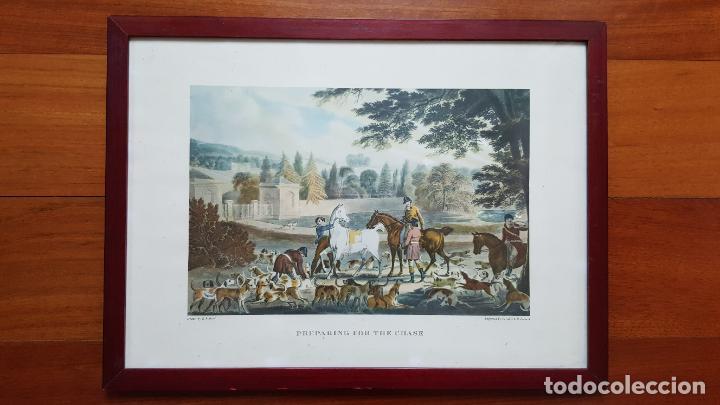 Arte: LOTE DE 4 GRABADOS INGLESES - Foto 2 - 190061917