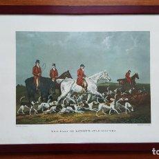 Arte: LOTE DE 4 GRABADOS INGLESES. Lote 190061917