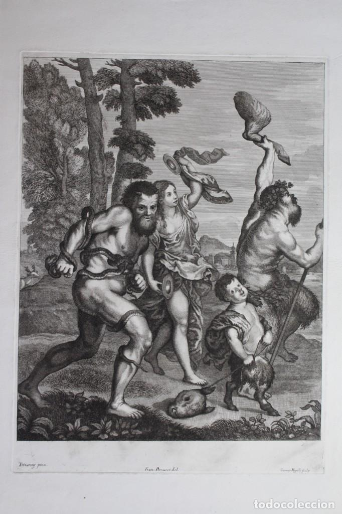 Arte: EXCEPCIONAL GRABADO -TITIANUS PRINX- FRANCESCO PETRUCCI - COSIMUS MOGALLI- PISADA 50 X 37 CM. - Foto 2 - 190129038