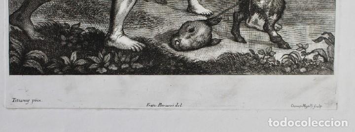 Arte: EXCEPCIONAL GRABADO -TITIANUS PRINX- FRANCESCO PETRUCCI - COSIMUS MOGALLI- PISADA 50 X 37 CM. - Foto 5 - 190129038
