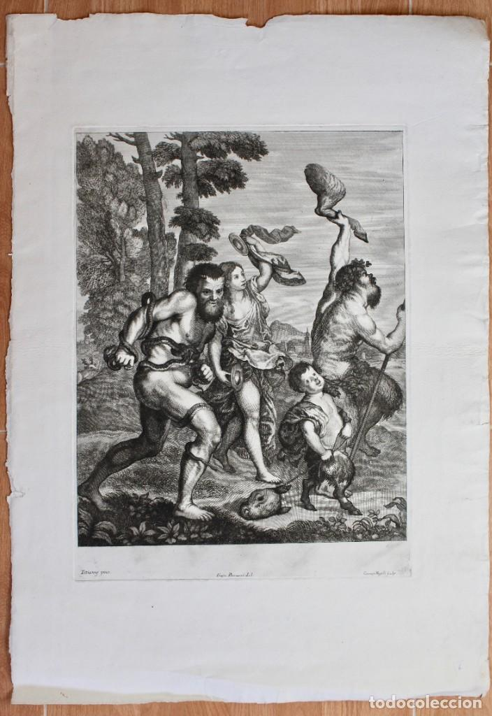EXCEPCIONAL GRABADO -TITIANUS PRINX- FRANCESCO PETRUCCI - COSIMUS MOGALLI- PISADA 50 X 37 CM. (Arte - Grabados - Antiguos hasta el siglo XVIII)